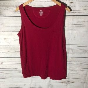 Red mossimo tank top